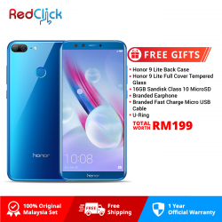 Honor 9 Lite /LLD-L21 (3GB/32GB) Original Honor Malaysia Set + 6 Free Gift Worth RM199