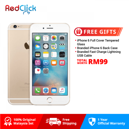 Apple iPhone 6 (32GB) Original Apple Malaysia Set + 3 Free Gift Worth RM99
