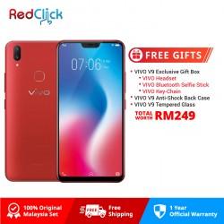 Vivo V9 (4GB/64GB) Original VIVO  Malaysia Set + 3 Free Gift Worth RM249