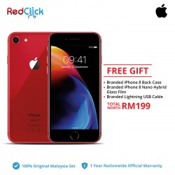 Apple iPhone 8 (64GB/256GB) Original Apple Malaysia Set + 3 Free Gift RM199