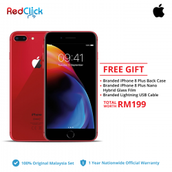 Apple iPhone 8 Plus (64GB/256GB) Original Apple Malaysia Set + 3 Free Gift RM199