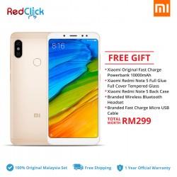 Xiaomi Redmi Note 5 (4GB/64GB) Original Xiaomi Malaysia Set + 5 Free Gift Worth RM299