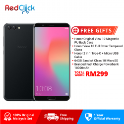 Honor View 10 (6GB/128GB) Original Honor Malaysia Set +  5 Free Gift Worth RM299
