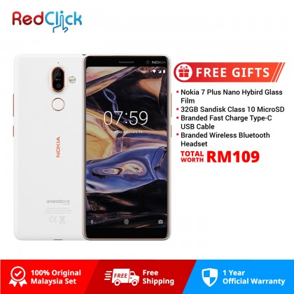 Nokia 7 Plus (4GB/64GB) Original Nokia Malaysia Set + 4 Free Gift Worth RM109