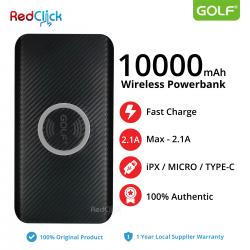 Original Golf W4 10000mAh Wireless Triple Input Fast Charge Powerbank