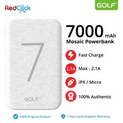 Original Golf G25 7000 mAh Dual Input Fast Charge Powerbank