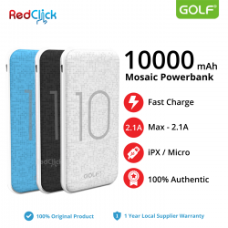Original Golf G26/ 10000mAh Dual Input Fast Charge Powerbank