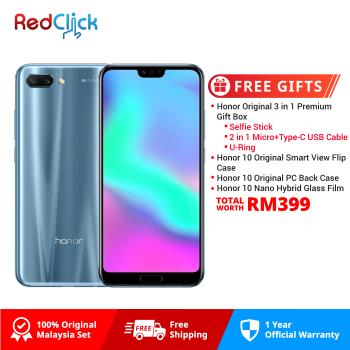 Honor 10 (4GB/128GB) Original Honor Malaysia Set + 4 Free Gift Worth RM399