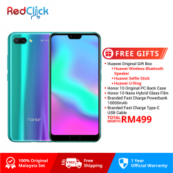Honor 10 (4GB/128GB) Original Honor Malaysia Set + 5 Free Gift Worth RM499