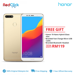 Honor 7A (2GB/16GB) Original Honor Malaysia Set + 3 Free Gift Worth RM119