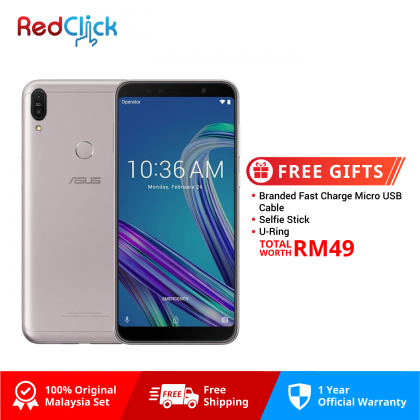 Asus Zenfone Max Pro (M1) /zb602kl (6GB/64GB) Original Asus Malaysia Set + 3 Free Gift Worth RM49