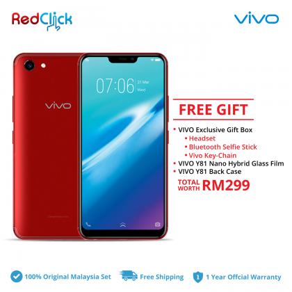 VIVO Y81 (3GB/32GB) Original VIVO Malaysia Set + 3 Free Gift Worth RM299