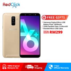 Samsung Galaxy A6 Plus (4GB/32GB) Original Samsung Malaysia Set + 3 Free Gift Worth RM299