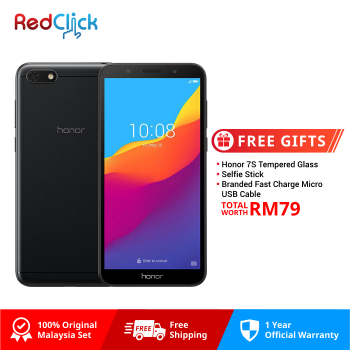 Honor 7S (2GB/16GB) Original Honor Malaysia Set + 3 Free Gift Worth RM79