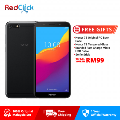 Honor 7S (2GB/16GB) Original Honor Malaysia Set + 4 Free Gift Worth RM99