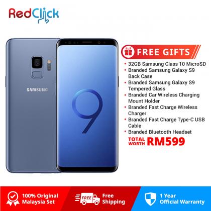 Samsung Galaxy S9/g960 (4GB/64GB) Original Samsung Malaysia Set + 7 Free Gift Worth RM599