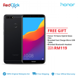 Honor 7A (3GB/32GB) Original Honor Malaysia Set + 2 Free Gift Worth RM119