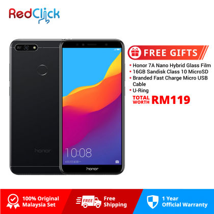 Honor 7A (3GB/32GB) Original Honor Malaysia Set + 4 Free Gift Worth RM119