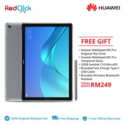 "Huawei Mediapad M5 Pro 10.8"" (4GB/64GB) Original Huawei Malaysia Set + 5 Free Gift Worth RM249"