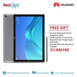 "Huawei Mediapad M5 Pro 10.8"" (4GB/64GB) Original Huawei Malaysia Set + 3 Free Gift Worth RM199"