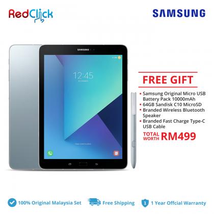"""Samsung Galaxy Tab S3 9.7"""" /t825y (4GB/32GB) Original Samsung Malaysia Set + 4 Free Gift Worth RM499"""