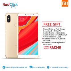 Xiaomi Redmi S2 (4GB/64GB) Original Xiaomi Malaysia Set + 5 Free Gift Worth RM249