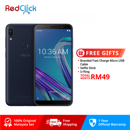 Asus Zenfone Max Pro (M1) /zb602kl (4GB/64GB) Original Asus Malaysia Set + 3 Free Gift Worth RM49