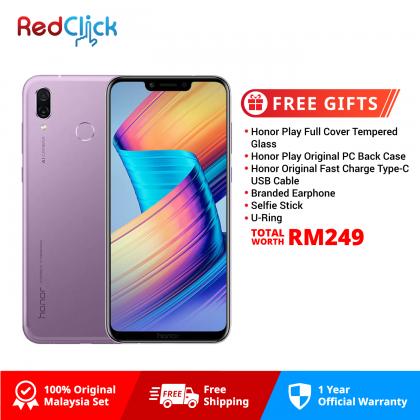 Honor Play (4GB/64GB) Original Honor Malaysia Set + 6 Free Gift Worth RM249
