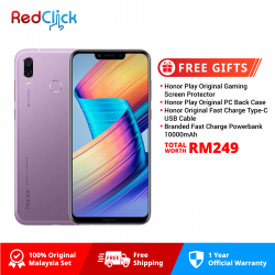 Honor Play (4GB/64GB) Original Honor Malaysia Set + 4 Free Gift Worth RM249
