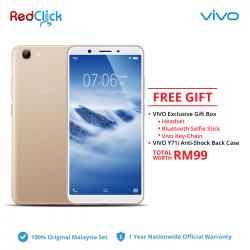 VIVO Y71i /1801 (2GB/16GB) Original VIVO Malaysia Set + 2 Free Gift Worth RM99
