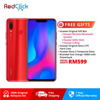 Huawei Nova 3 (6GB/128GB) Original Huawei Malaysia Set + 4 Free Gift Worth RM599