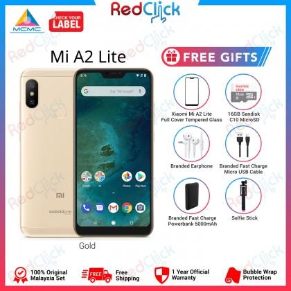 Xiaomi Mi A2 Lite (3GB/32GB) Original Xiaomi Malaysia Set + 6 Free Gift Worth RM219