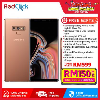 Samsung Galaxy Note 9 /n960 (6GB/128GB) Original Malaysia Set + 8 Free Gift Worth RM599