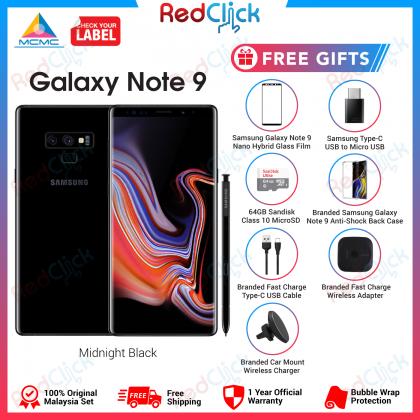Samsung Galaxy Note 9 /n960 (6GB/128GB) Original Malaysia Set + 6 Free Gift Worth RM539