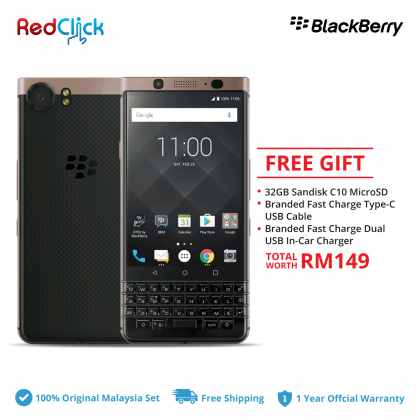 BlackBerry KeyOne (4GB/64GB) Original Malaysia Set + 3 Free Gift Worth RM149