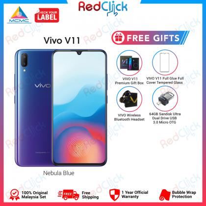 VIVO V11 /1804 (6GB/128GB) Original Malaysia Set + 4 Free Gift Worth RM549