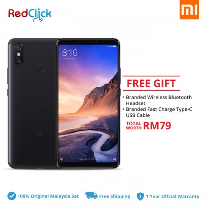 Xiaomi Mi Max 3 (4GB/64GB) Original Xiaomi Malaysia Set + 2 Free Gift Worth RM79