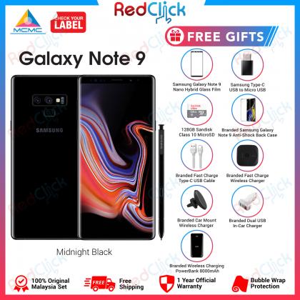 Samsung Galaxy Note 9 /n960 (8GB/512GB) Original Samsung Malaysia Set + 10 Free Gift Worth RM799