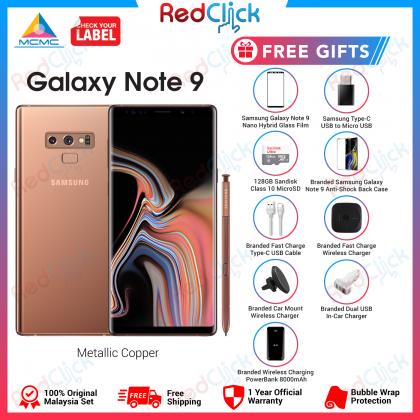 Samsung Galaxy Note 9 /n960 (8GB/512GB) Original Samsung Malaysia Set + 9 Free Gift Worth RM699