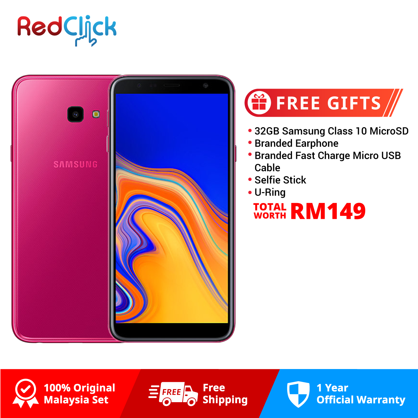 25bb93376d Samsung Galaxy J4 Plus  j415f (2GB 32GB) Original Samsung Malaysia Set + ...