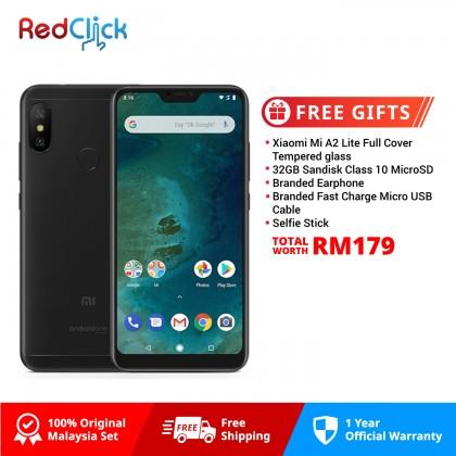 Xiaomi Mi A2 Lite (4GB/64GB) Original Xiaomi Malaysia Set + 5 Free Gift Worth RM179