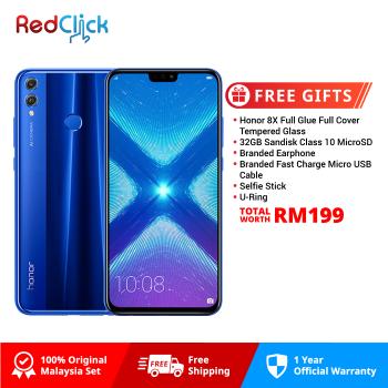 Honor 8X (4GB/128GB) Original Honor Malaysia Set + 7 Free Gift Worth RM249