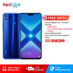 Honor 8X (4GB/128GB) Original Honor Malaysia Set + 8 Free Gift Worth RM249
