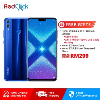 Honor 8X (4GB/128GB) Original Honor Malaysia Set + 7 Free Gift Worth RM199