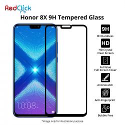 Honor 8X Full Glue Full Cover 9H Tempered Glass