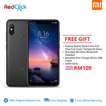 Xiaomi Redmi Note 6 Pro (3GB/32GB) Original Xiaomi Malaysia Set + 4 Free Gift Worth RM109