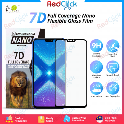 iTOP Honor 8X 7D Full Coverage Screen Protector Nano Flexible Glass Film - Shock Proof