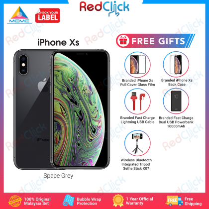 Apple iPhone Xs (64GB/ 256GB/ 512GB) Original Apple Malaysia Warranty + 5 Free Gift Worth RM159