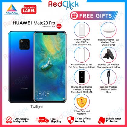Huawei Mate 20 Pro (6GB/128GB) Original Huawei Malaysia Set + 6 Free Gift Worth RM699