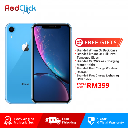 Apple iPhone XR (64GB/128GB/256GB) Original Apple Malaysia + 5 Free Gift Worth RM399